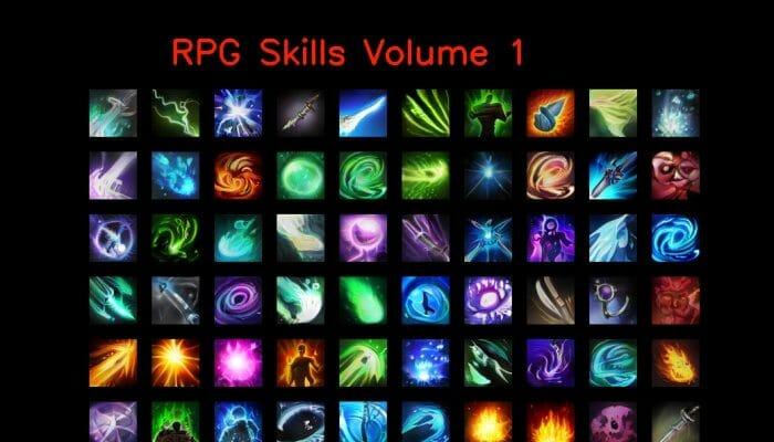 RPG skill icons 64×64 Volume 1
