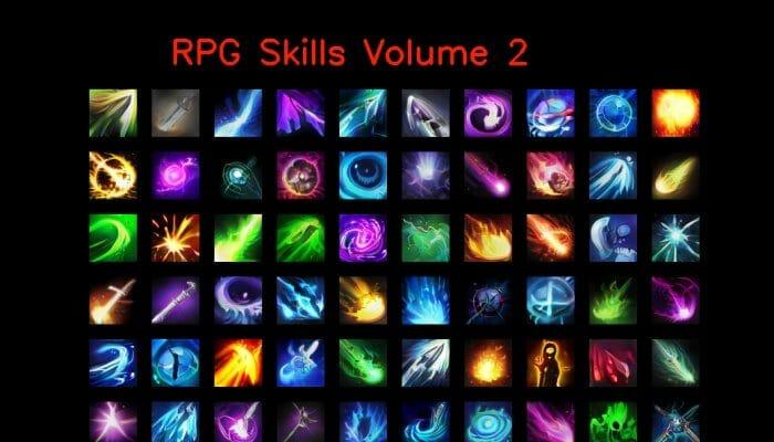 RPG skill icons 64×64 Volume 2