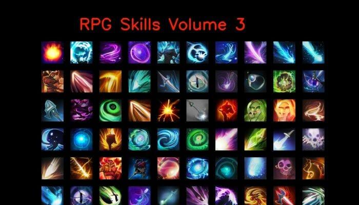 RPG skill icons 64×64 Volume 3