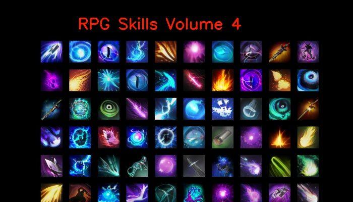 RPG skill icons 64×64 Volume 4