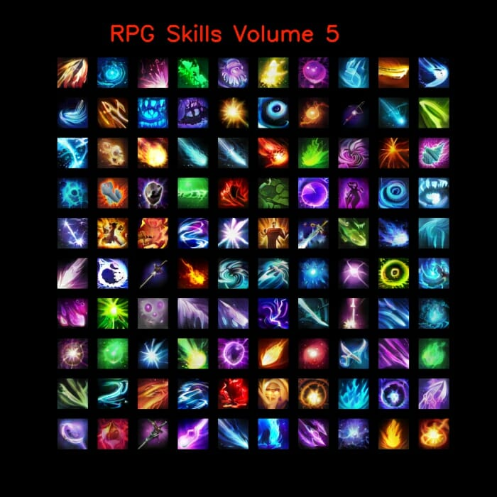 RPG skill icons 64×64 Volume 5