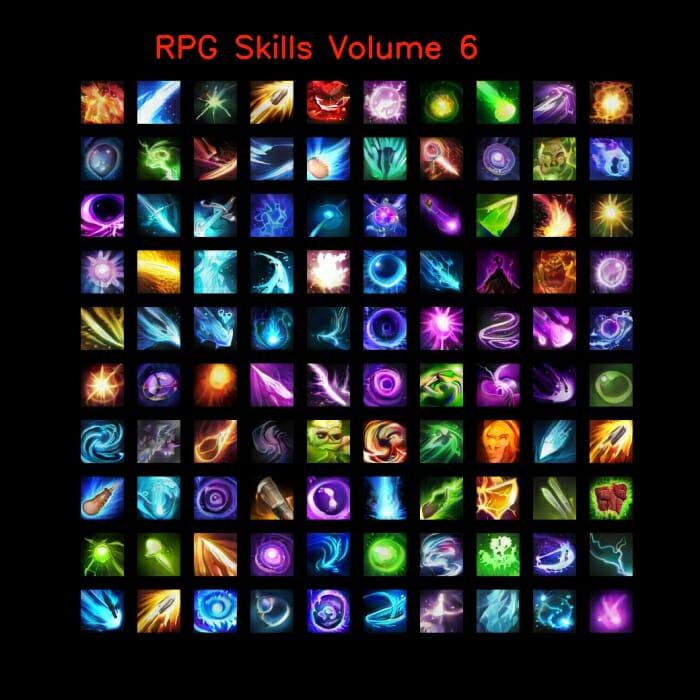 RPG skill icons 64×64 Volume 6