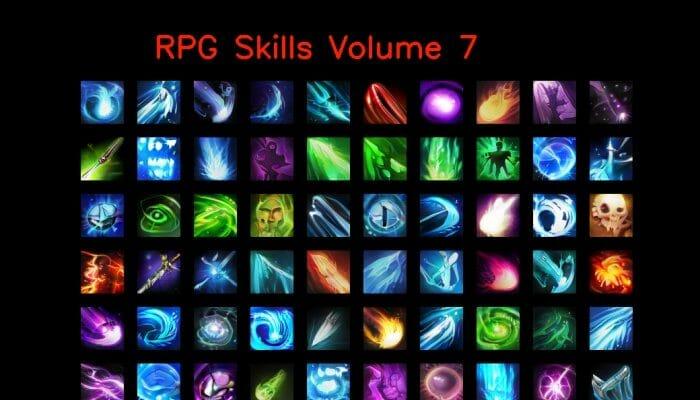 RPG skill icons 64×64 Volume 7