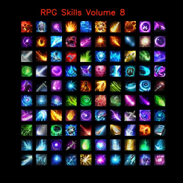 RPG skill icons 64×64 Volume 1-10