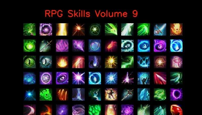 RPG skill icons 64×64 Volume 9