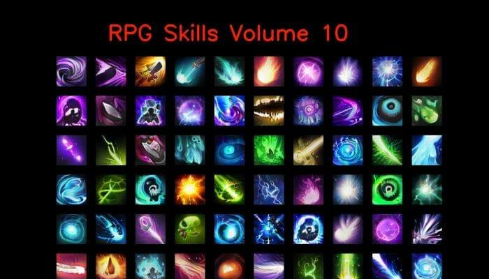 RPG skill icons 64×64 Volume 10