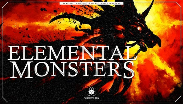 Fantasy Elemental Creatures Sound Effects Library – Beasts, Monsters, Dinosaurs & Medieval Dragon Sounds