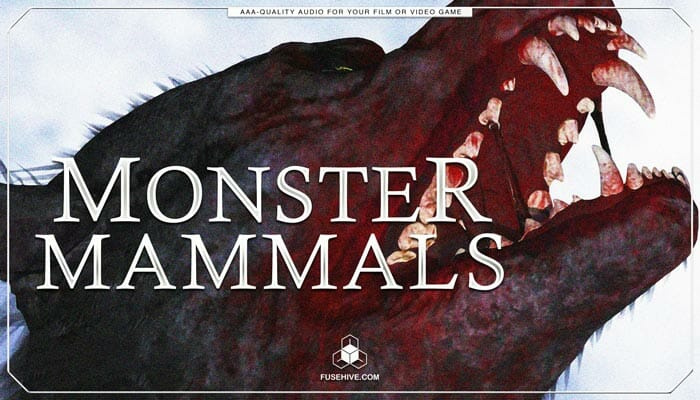 Monster Mammals Sound Effects Library – Myhtology Creatures, Beasts, Dinosaurs & Dragon Sounds