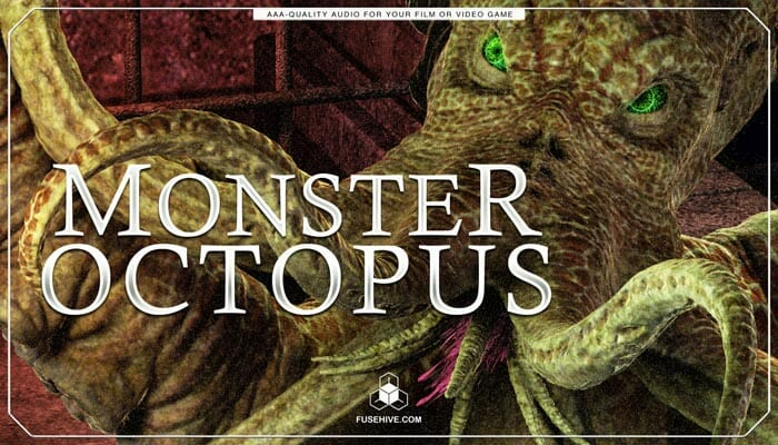 Monster Octopus Sound Effects Library – Myhtology Creatures, Beasts, Dinosaurs & Dragon Sounds
