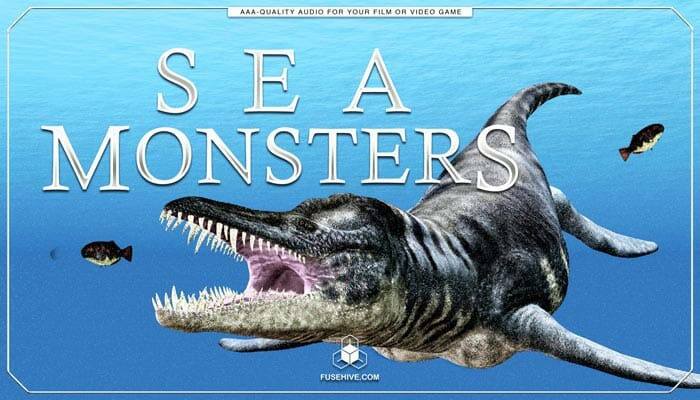 Sea Monster Fish Sound Effects Library – Myhtology Ocean Creatures, Beasts, Dinosaurs & Dragon Sounds