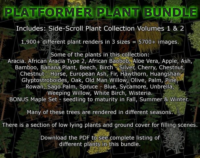 Platformer Plant Bundle – Side-Scroll Plant Collections Volume 1 & 2