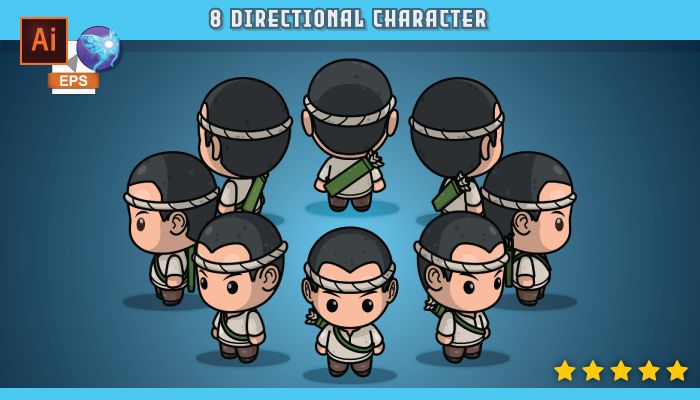 8 Directional Villager Male