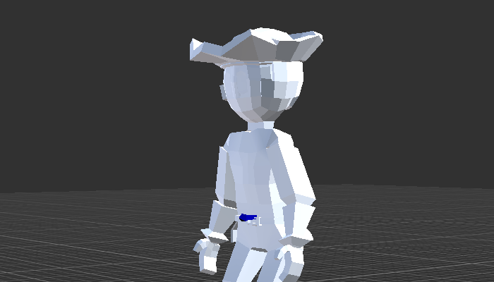 Low Poly Pirate with Rig and Animation for Puzzle Game