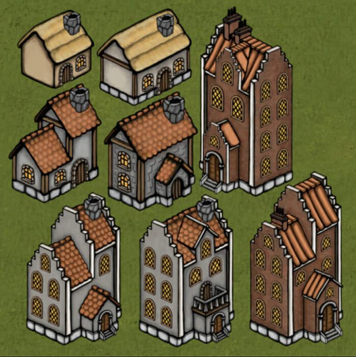 Medieval house set