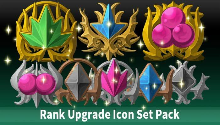Rank Upgrade Icon Set Pack