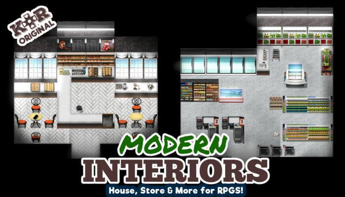 Modern Interiors Tileset for RPGs