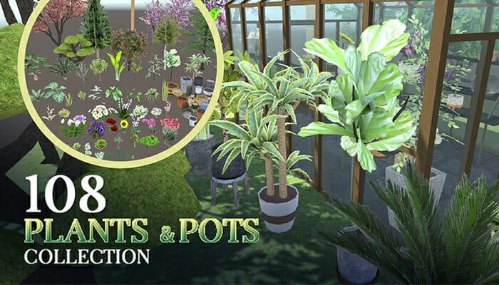 108 Plants, Vase,& Pots Collection