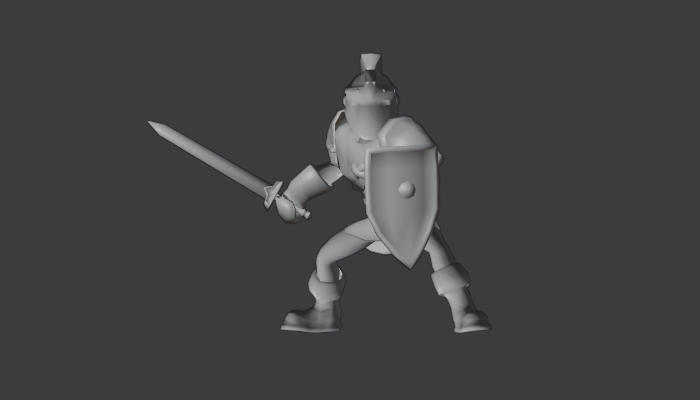 Low Poly Hero with Rig and Animation for Tactics Game