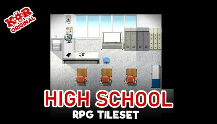 High School Tileset for RPGs