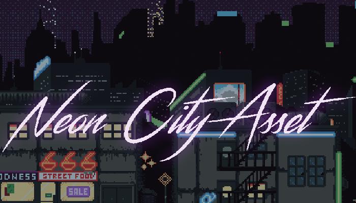 Neon City Pixel Art Asset
