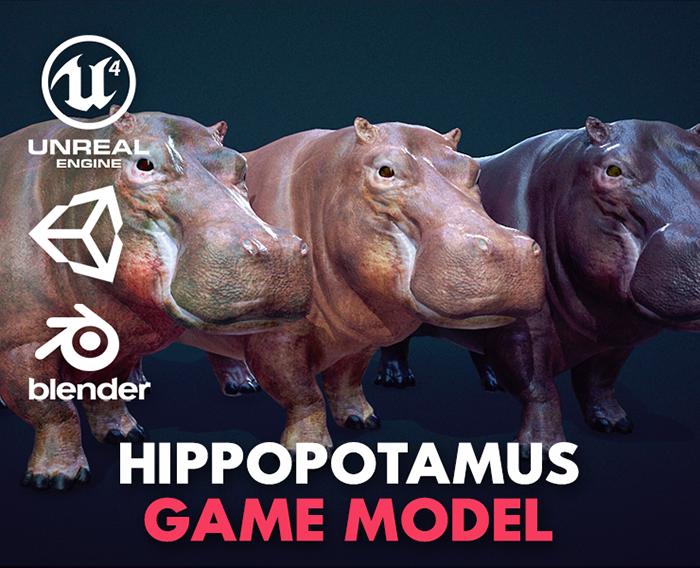 Hippopotamus – Game Ready