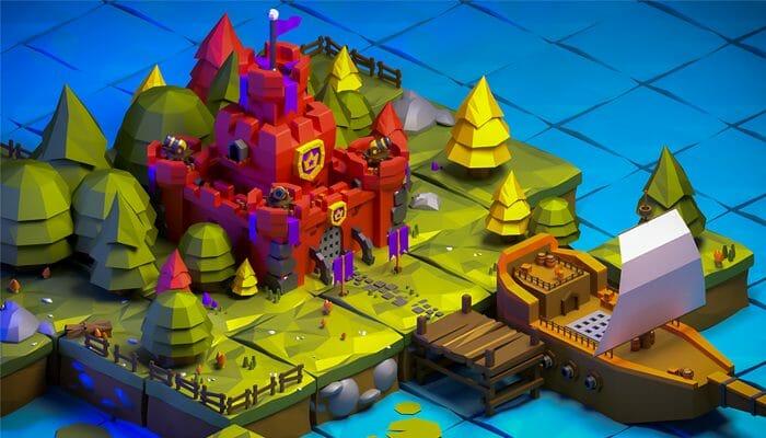 3d Low poly Castle