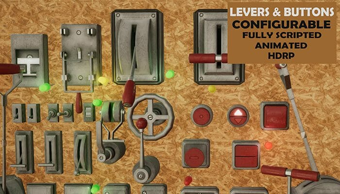 Levers & Buttons – Unity 3D ProtoPack