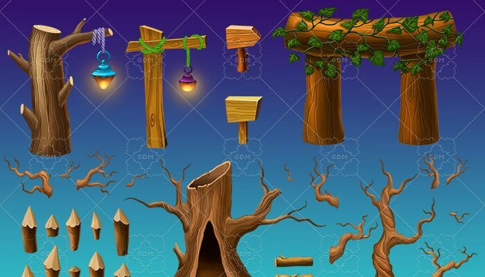 Wooden forest pack