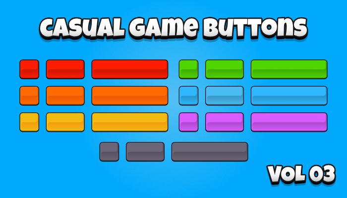 Casual Game Buttons Vol. 03