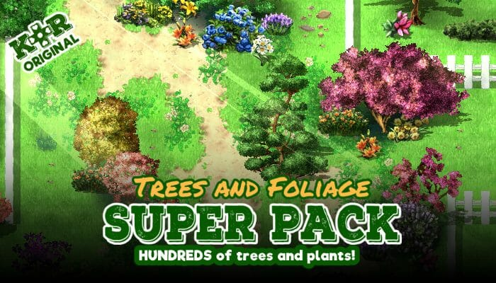 Foliage and Tree Tileset for RPGs