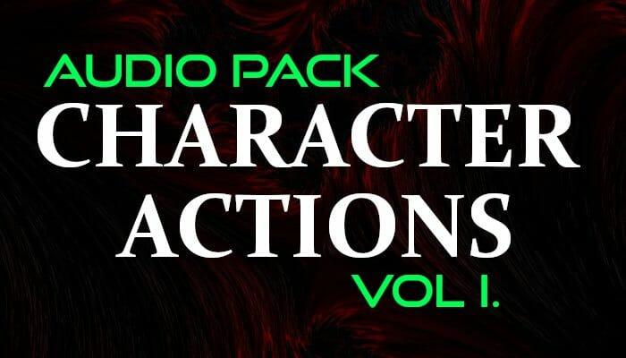 Character Actions – Audio Pack