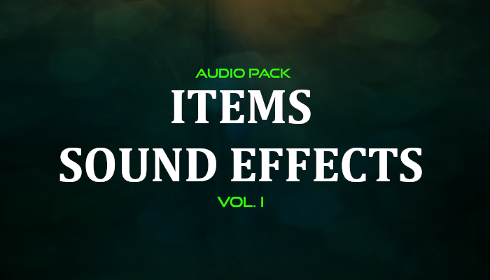 Items Sound Effects – Audio Pack