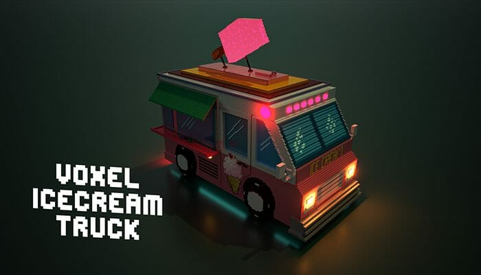 Voxel ice cream truck