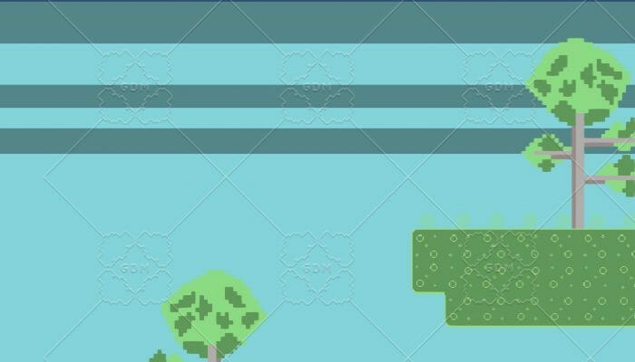 Simple Platformer Pixelart Tileset