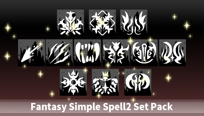 Fantasy Simple Spell2 Set Pack