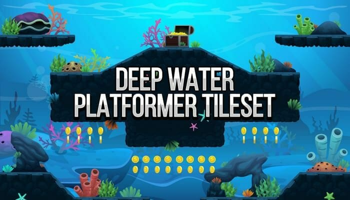 Deep Water – Platformer Tileset