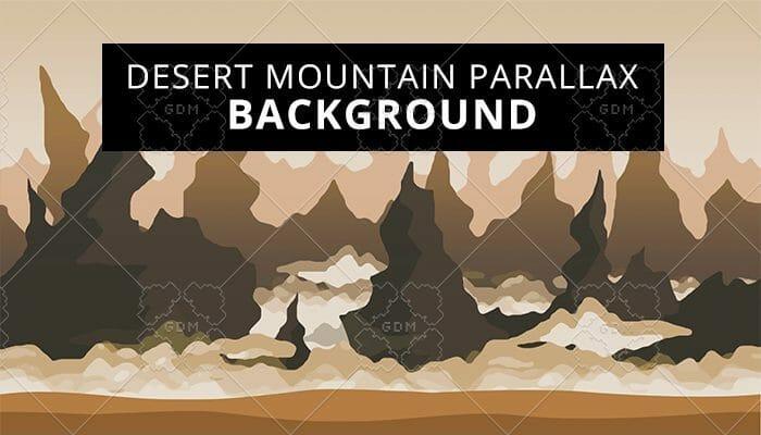 Desert mountain parallax background