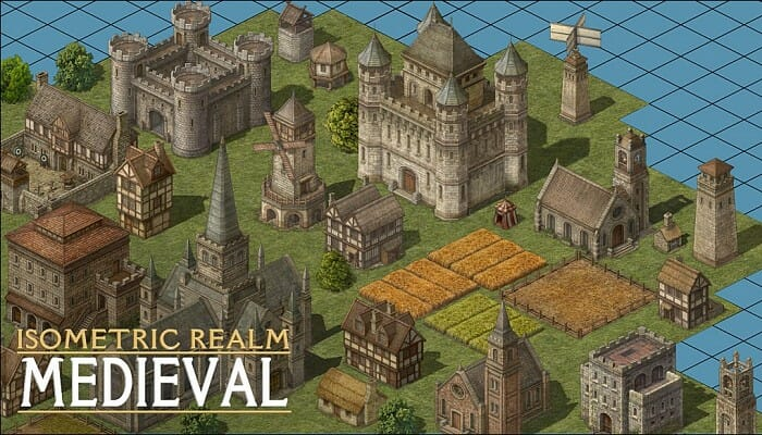 Isometric Realm – 2D Medieval Buildings