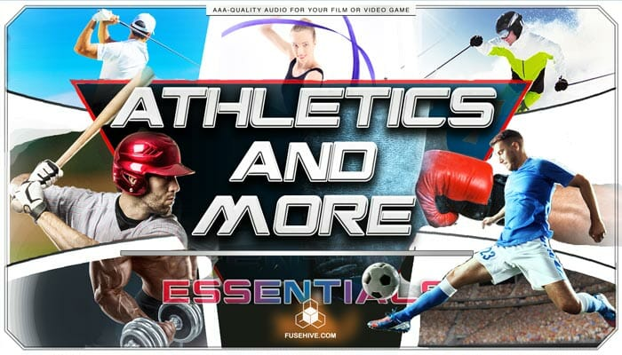 Athletic Sports – Golf, Gymnastics, Skiing, Baseball, Weightlifting & Soccer Sound Effects Library