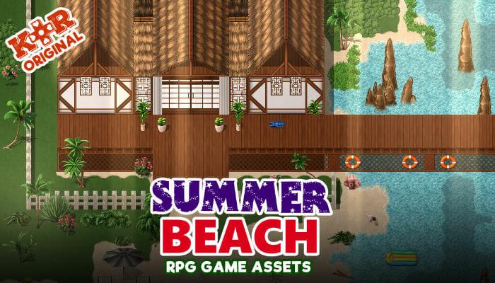 Summer Beach Tileset for RPGs