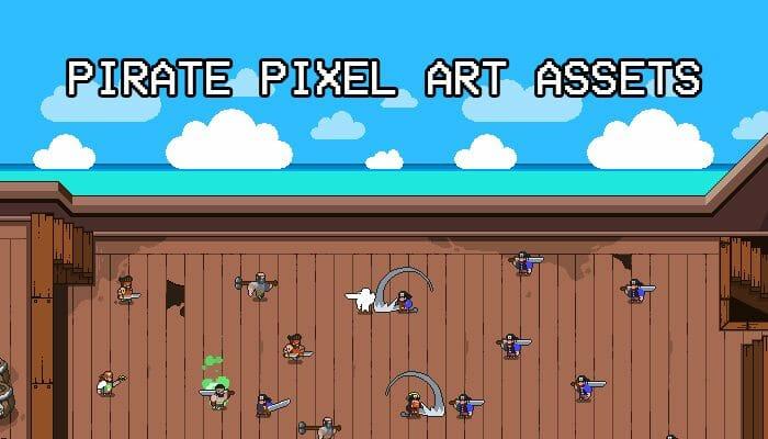Pirate Pixel Art Assets Pack