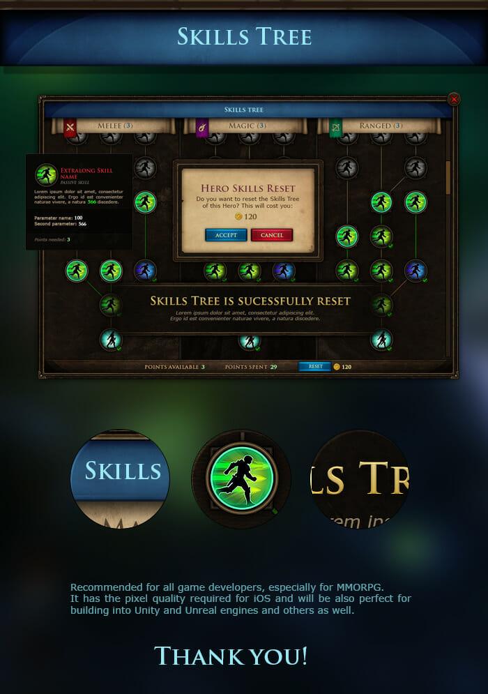 MMRPG UI Skils Tree