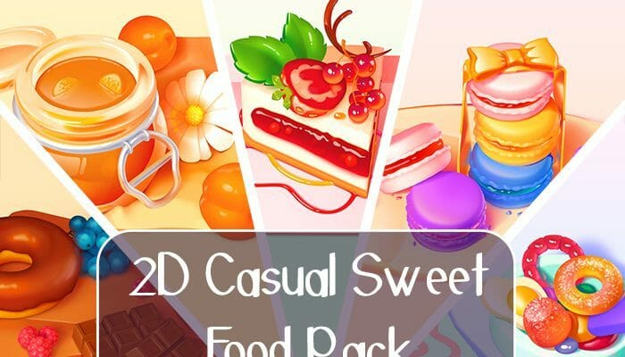 2D Casual Sweet Food Pack
