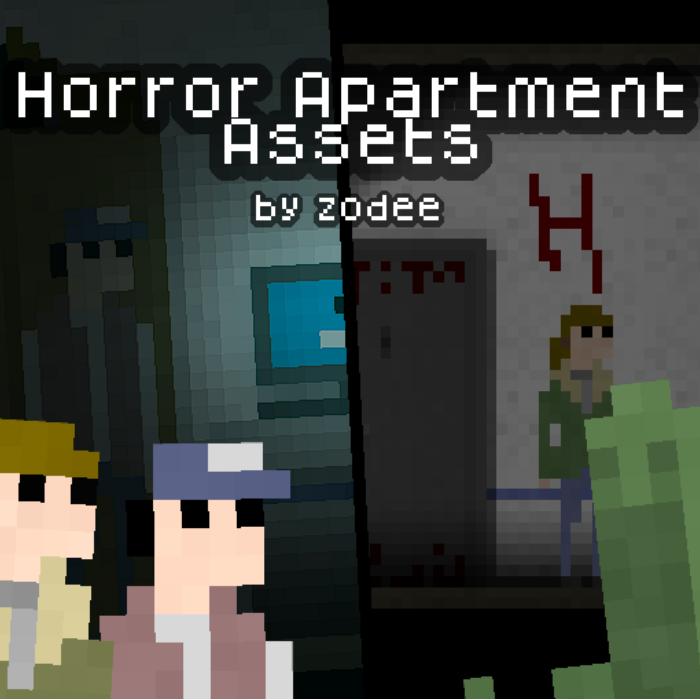 Horror Apartment Side-scroller Assets