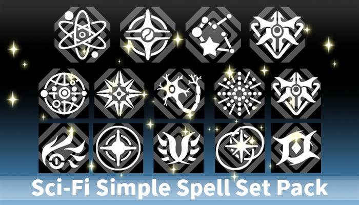 Sci-Fi Simple Spell Set Pack