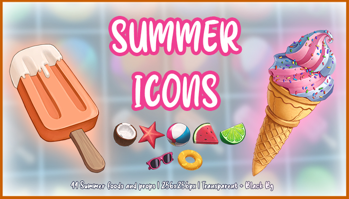 Tropical Summer Game Icons