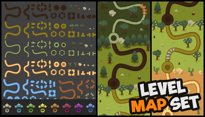 Game Level Map
