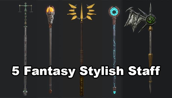 5 Fantasy Stylish Staff