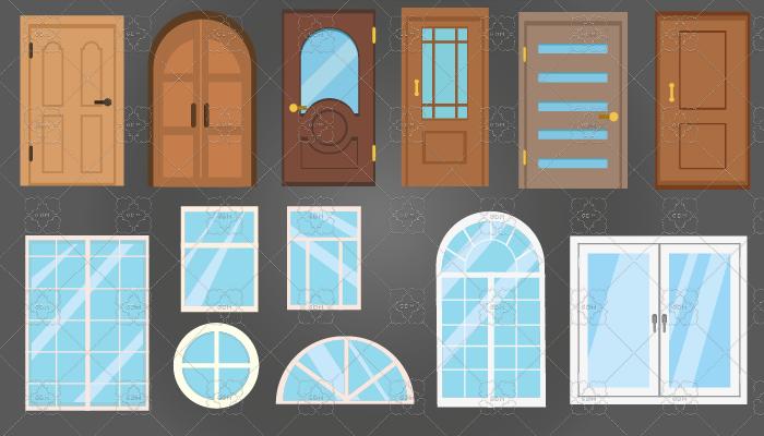 2D doors and windows