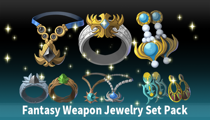 Fantasy Weapon Jewelry Set Pack